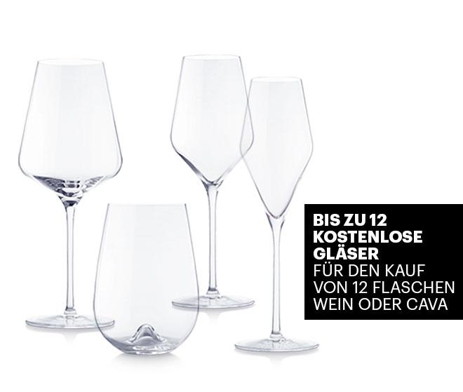 Bis zu 12 kostenlose Gläser Für den Kauf von 12 Flaschen