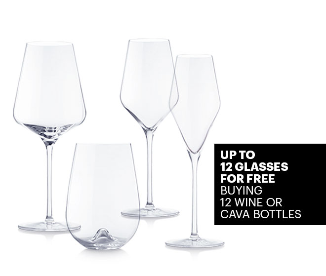 Up to 12 glasses for free buying 12 bottles