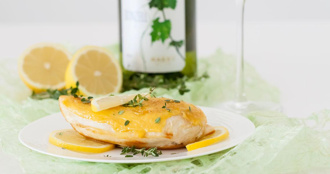 Pollo con tomillo y limón