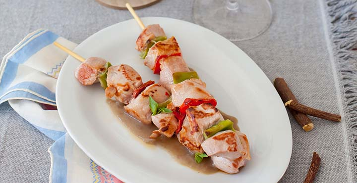 Receta de pavo con salsa de regaliz con Tempranillo Rioja