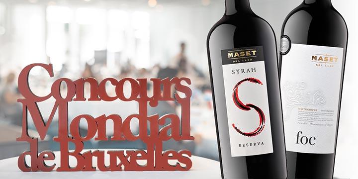 2 vins negres del celler premiats al 28è Concours Mondial de Bruxelles